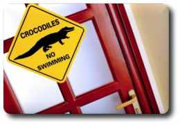 Crocodiles warning