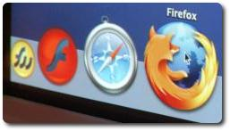 Firefox in the dock