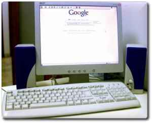 Google on a computer screen