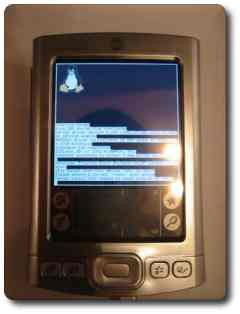 Linux on the Palm Tungsten E