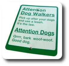 Sign for dogs and humans