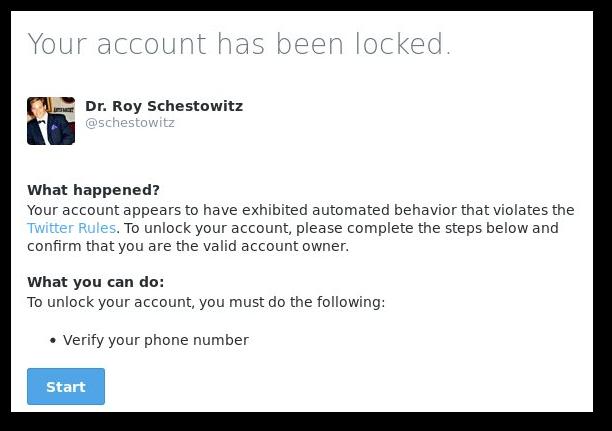 Twitter lockout