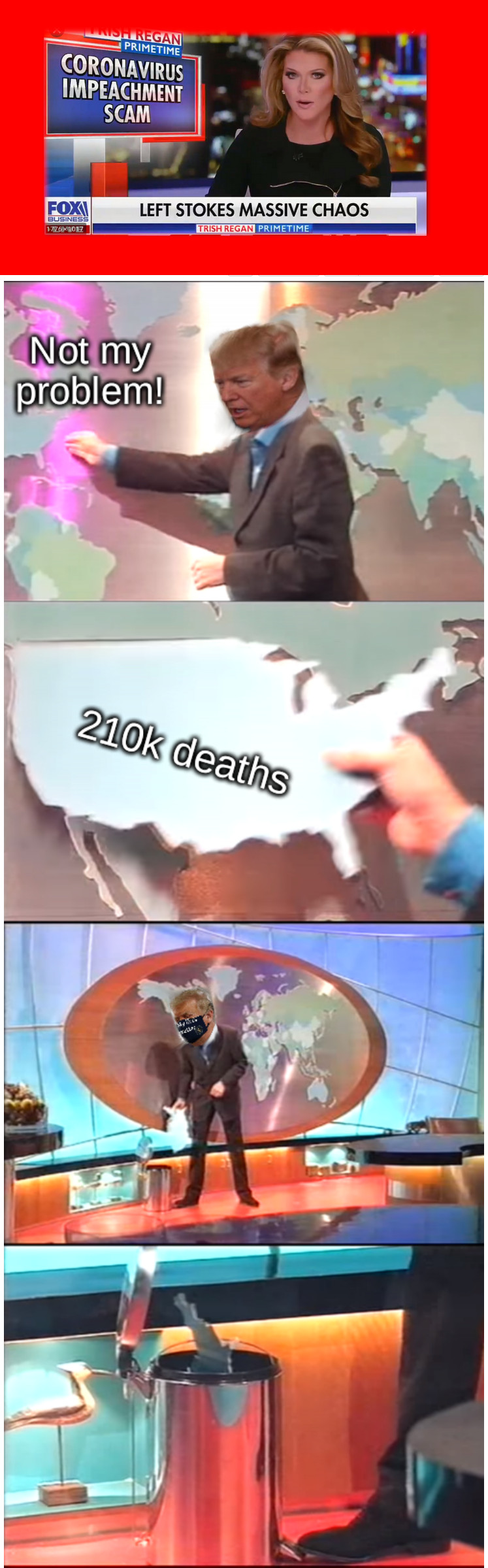 210k deaths; Not my problem!