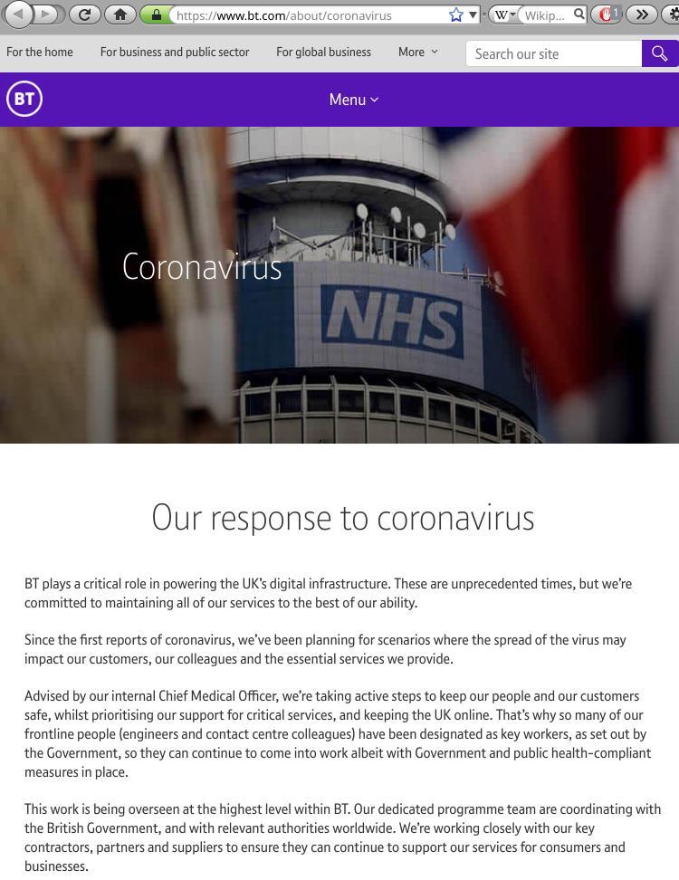 Coronavirus BT