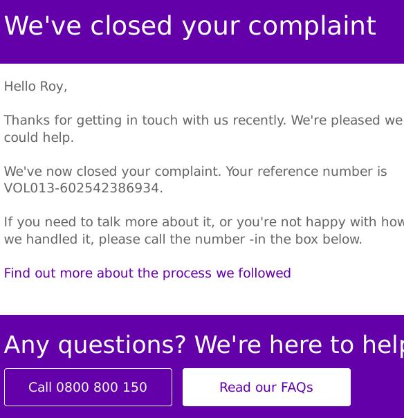 BT complaint
