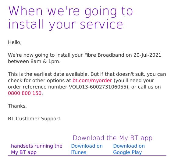 BT install