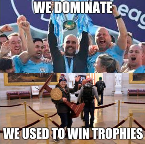 We dominate; we used to win trophies