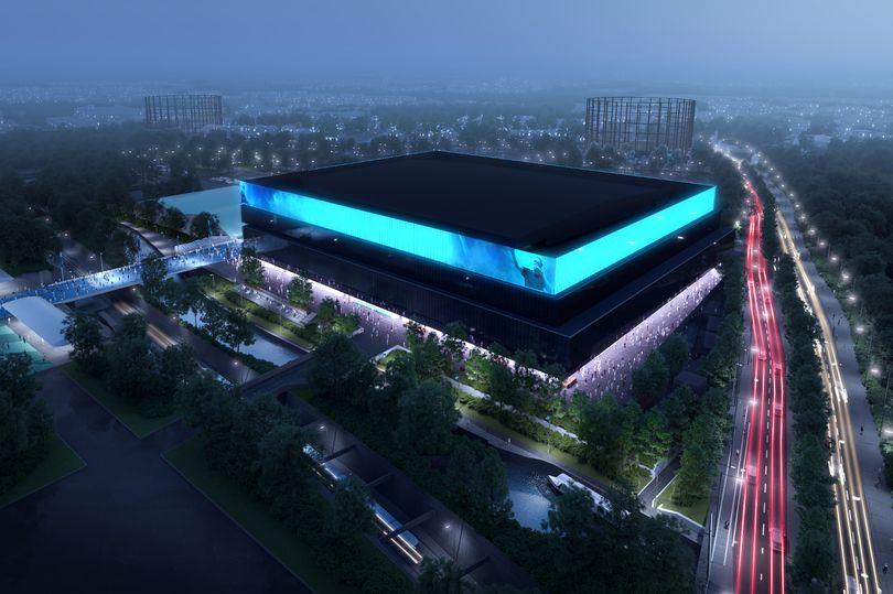 Massive new music and sports arena next to the Etihad Stadium