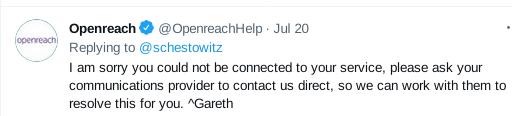 Openreach tweet